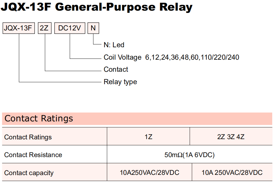 General Purpose Relay-LY2