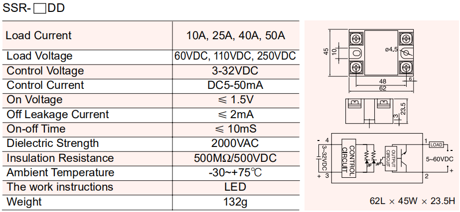 Single Phase Solid State Relay-SSR-25DD